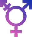 A trans symbol with a light to dark purple gradient.